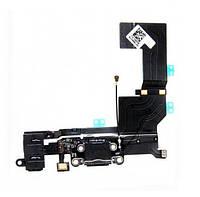 IPhone 5C шлейф разъема зарядки, коннектора гарнитуры черный