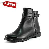 Ботинки демисез женск SND SD215-12 черная кожа,лак