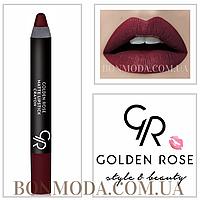 Матовая помада карандаш Golden Rose Matte Lipstick Crayon № 02, фото 1