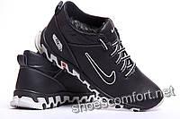 Nike 22 / 8 Black - кожаные зимние спортивные ботинки