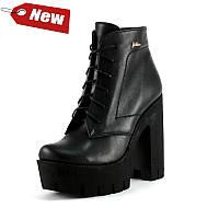 Ботинки демисез женск SND SD7-71 черная кожа