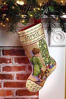 """Набор для вышивания крестом """"Christmas Morning Stocking//Рождественское утро"""" Janlynn"""