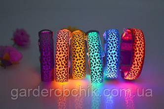 """Ошейник светящийся, светодиодный для собак """"Леопард"""". Ошейники для собак"""
