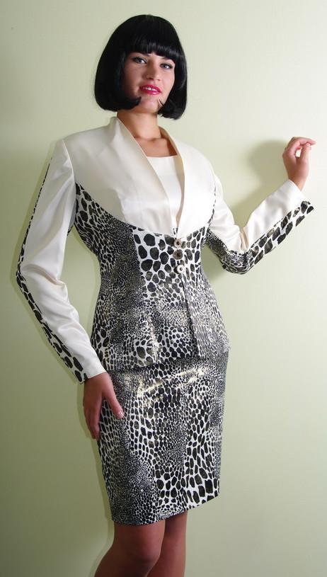 Костюм леопардовый с платьем Арт.944 р.38,жакет р.48,50