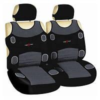 Майки сидения передние MILEX Prestige серо- черная/ полиэстер 7252