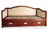 """Диван - кровать односпальная деревянная с ящиками """"Лорд"""" dn-kr4.3"""
