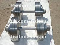 Гантели 2 по 28 кг стальные