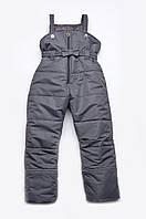 Полукомбинезон зимний для девочки Модный карапуз ТМ Серый