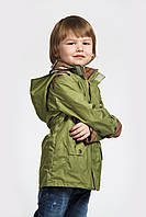 Куртка-парка для мальчика зеленая Модный карапуз ТМ 110 Зеленый