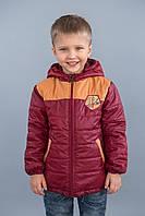 """Куртка для мальчика демисезонная """"Спорт"""" (бордо) Модный карапуз ТМ Бордовый"""