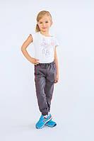 Брюки для девочки спортивные (серый) Модный карапуз ТМ Серый