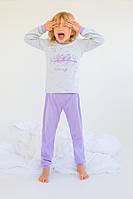"Пижама для девочки ""Совушки"" (сирень) Модный карапуз ТМ Сиреневый совушки"
