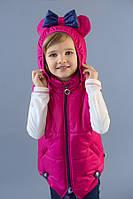 """Футболка для девочки """"Микки"""" (розовый) Модный карапуз ТМ бежевый с розовым"""