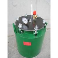 Зеленый газовый автоклав средний (на барашках) на 24 банок по 0,5 л/на 16 банок по 1 л
