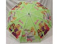 Зонтик для девочки - Барби, салатовый