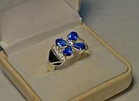 Кольцо из серебра с вставками золота - Ева