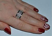 Кольцо из серебра с золотыми накладками 375 пробы - Стиль