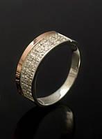 Кольцо из серебра с накладками из золота - Престиж