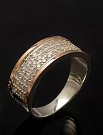 Кольцо из серебра с накладками из золота - Париж