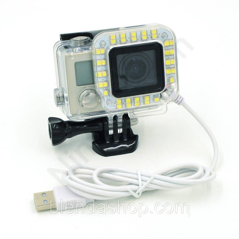 LED подсветка для экшн-камер Xiaomi YI, SJCam, GoPRO (код № XTGP252)