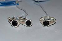 Набор серебряных украшений, кольцо и серьги - Ольга