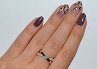 Серебряное кольцо с накладками из золота - Liberty