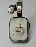Серебряный набор с накладками из золота - Юнона