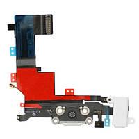 IPhone 5S шлейф разъема зарядки, коннектора гарнитуры белый