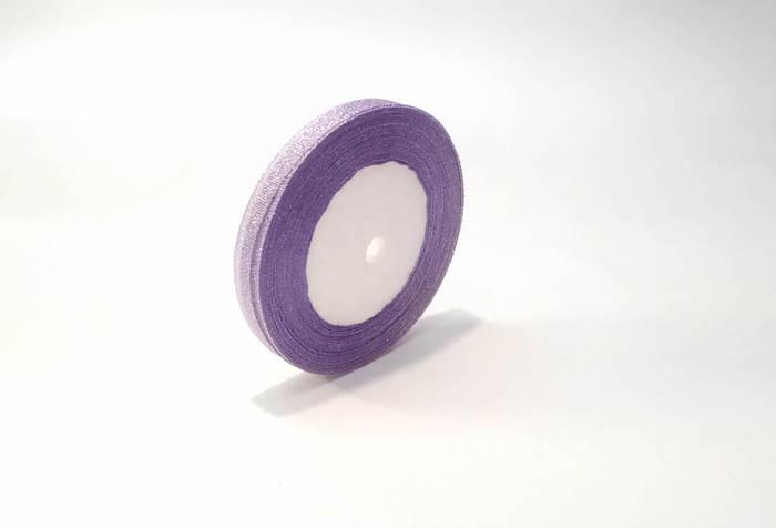 Лента люрекс металл 1см  фиолетовая флористическая
