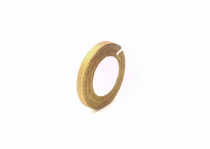 Лента люрекс 1см  золотая флористическая