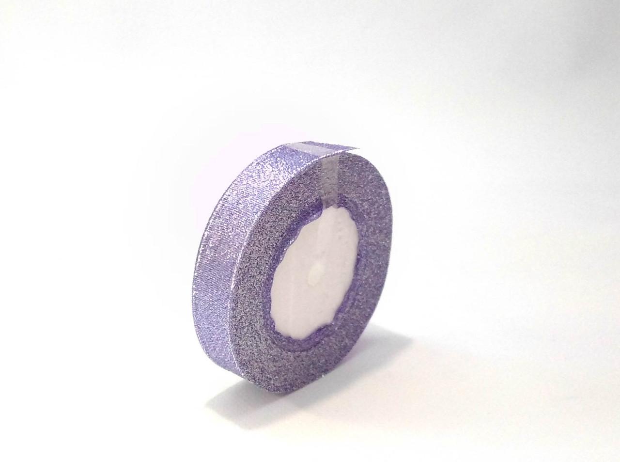Лента парча 2см фиолетовая декоративная