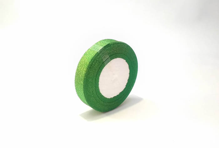 Лента люрекс 2.5 см зеленый