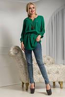 Блузка женская из креп-шифона в расцветках, фото 1