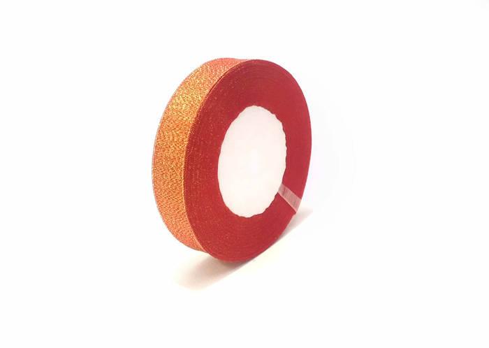 Лента люрекс 2.5 см красная