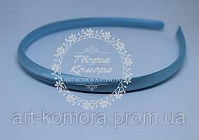 Обруч пластиковый в атласе голубой, 7 мм.