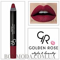 Матовая помада карандаш Golden Rose Matte Lipstick Crayon № 05, фото 1