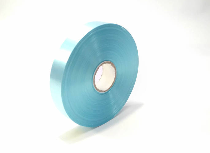 Лента полипропиленовая  2 см голубая декоративная