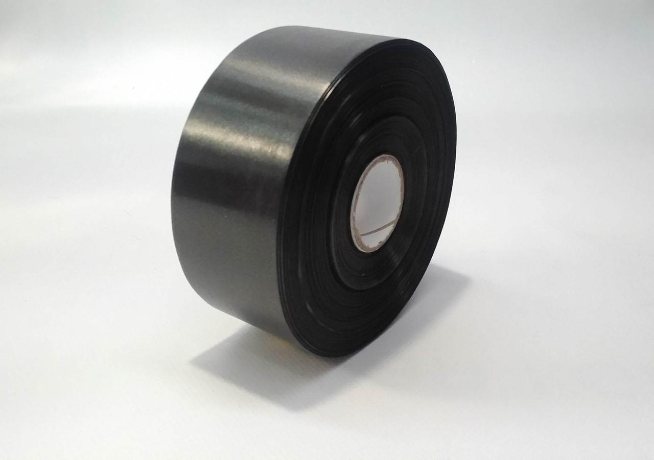 Лента полипропиленовая 5 см черная декоративная