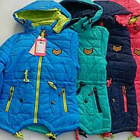 Демисезонные детские куртки на девочку цветные оптом  HTRANG