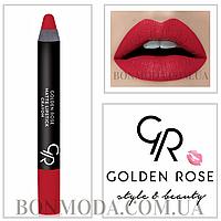 Матовая помада карандаш Golden Rose Matte Lipstick Crayon № 06, фото 1