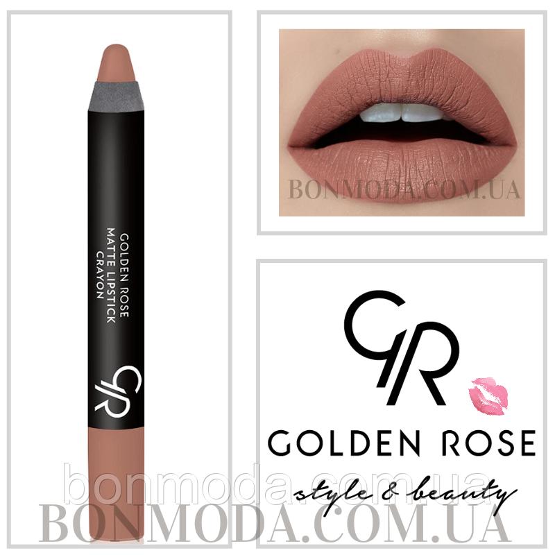 Помада карандаш для губ golden rose matte lipstick crayon отзывы