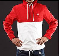 Анорак,ветровка,куртка fred perry красно-белый размер L