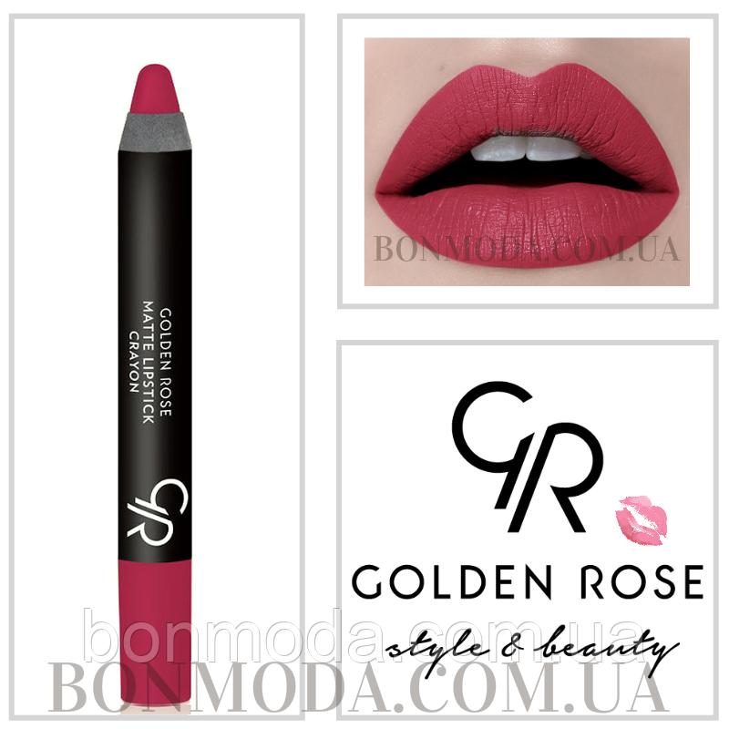 Матовая помада карандаш Golden Rose Matte Lipstick Crayon № 16