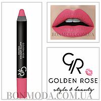 Матовая помада карандаш Golden Rose Matte Lipstick Crayon № 17, фото 1