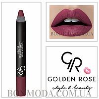 Матовая помада карандаш Golden Rose Matte Lipstick Crayon № 19