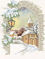 """Схема для вышивки бисером """"Рождественский вечер"""""""