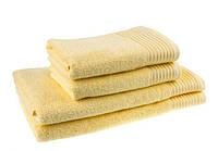 "Полотенце (100х150 см) махровое ""Terry Lux 400"", желтое, фото 1"