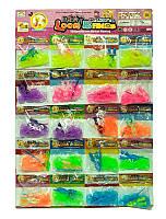 Резиночки для браслетов 025-1 ВН (60) 20шт на листе НЕОН