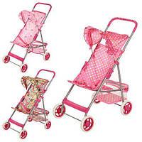 Детская прогулочная коляска для кукол оборочки