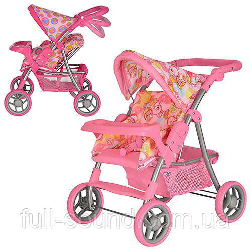 Детская прогулочная коляска для кукол с подносом